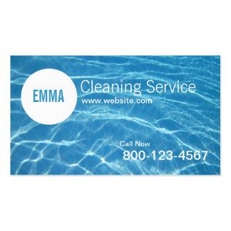 Tarjeta de la empresa de servicios de la limpieza  plantillas de tarjetas personales