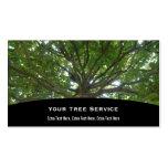 Tarjeta de la empresa de servicios del árbol plantillas de tarjeta de negocio