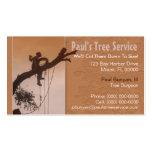 Tarjeta de la empresa de servicios del árbol tarjeta personal