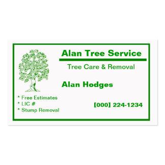 Tarjeta de la empresa de servicios del árbol plantilla de tarjeta personal