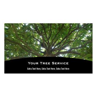 Tarjeta de la empresa de servicios del árbol tarjetas de visita