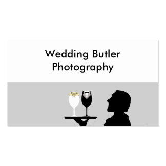 Tarjeta de la empresa de servicios del boda tarjetas de visita