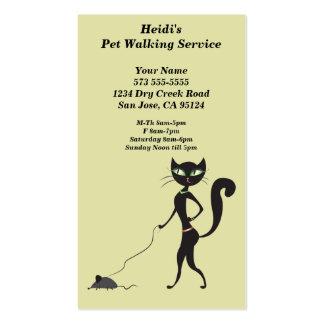 Tarjeta de la empresa de servicios del mascota que