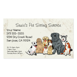 Tarjeta de la empresa de servicios del mascota plantillas de tarjeta de negocio