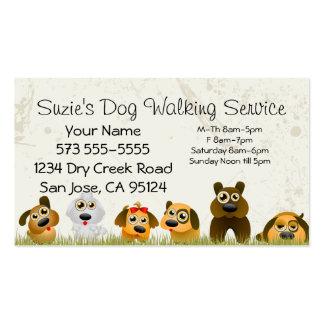 Tarjeta de la empresa de servicios del perro que c tarjetas de negocios