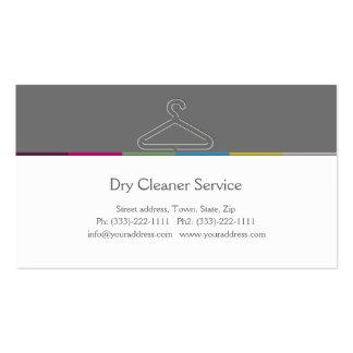 Tarjeta de la empresa de servicios del tintorero tarjetas de visita