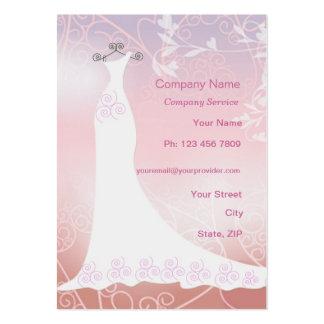 Tarjeta de la empresa de servicios del vestido de tarjetas de visita grandes