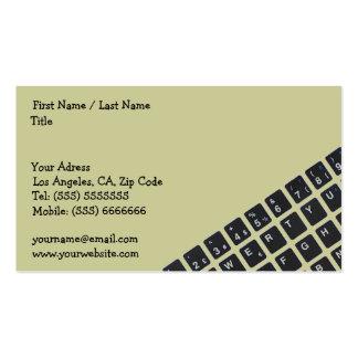 Tarjeta de la empresa informática tarjetas de visita