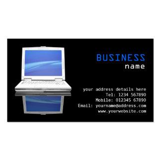 Tarjeta de la empresa informática plantillas de tarjeta de negocio