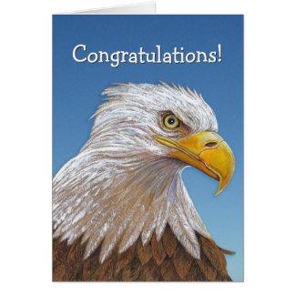 Tarjeta de la enhorabuena de Eagle