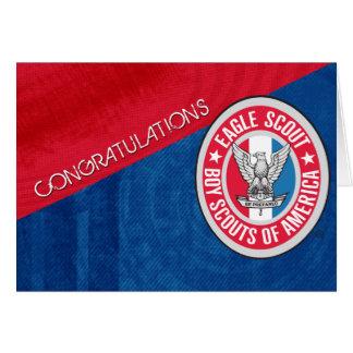Tarjeta de la enhorabuena de Eagle Scout