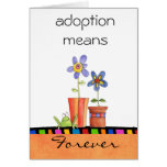 tarjeta de la enhorabuena de la adopción