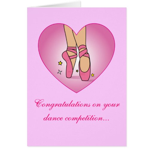 Tarjeta de la enhorabuena de la competencia de la