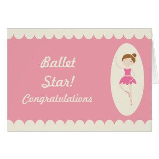 Tarjeta de la enhorabuena de la estrella del balle