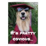 Tarjeta de la enhorabuena de la graduación