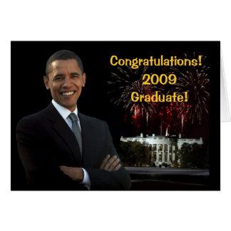 Tarjeta de la enhorabuena de la graduación de Obam