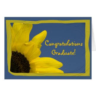 Tarjeta de la enhorabuena de la graduación del gir