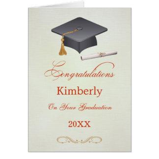 Tarjeta de la enhorabuena de la graduación del mor