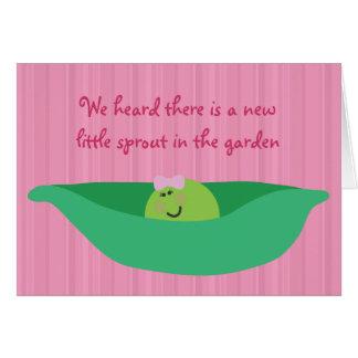 Tarjeta de la enhorabuena de la niña de los Pals d