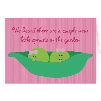 Tarjeta de la enhorabuena de las niñas de los Pals