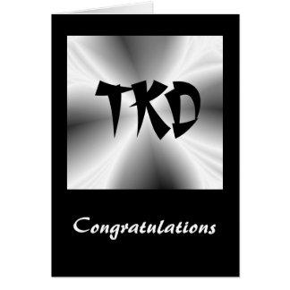 Tarjeta de la enhorabuena de TKD