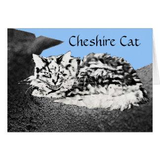 Tarjeta de la enhorabuena del gato de Cheshire