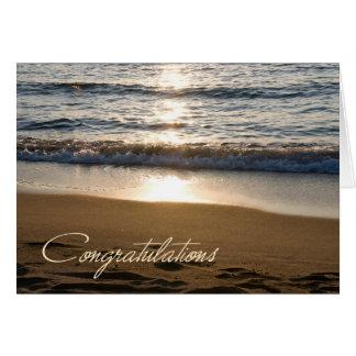 Tarjeta de la enhorabuena del retiro de la onda