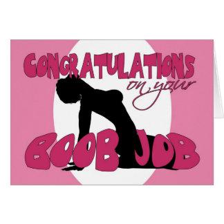 Tarjeta de la enhorabuena del trabajo del Boob