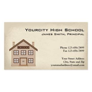 Tarjeta de la enseñanza de la escuela tarjeta personal