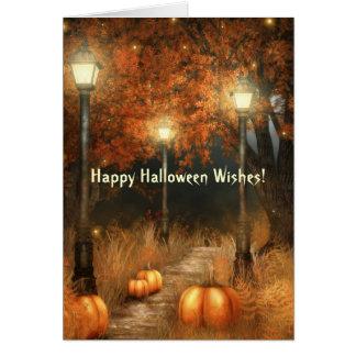 Tarjeta de la escena de Halloween