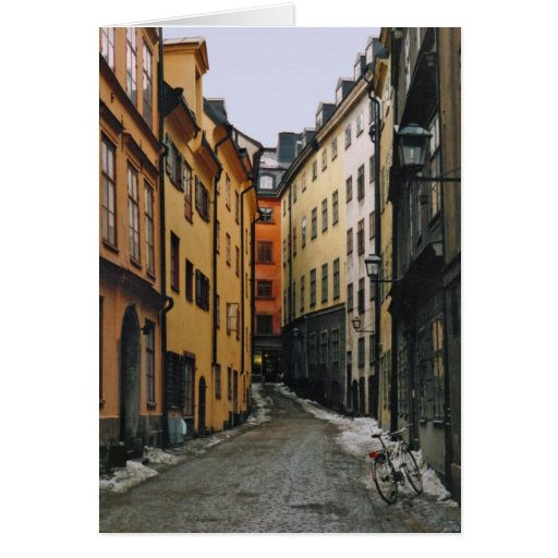 Tarjeta de la escena de la calle de Estocolmo