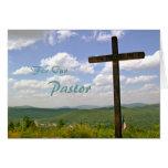 Tarjeta de la escritura del aprecio del pastor