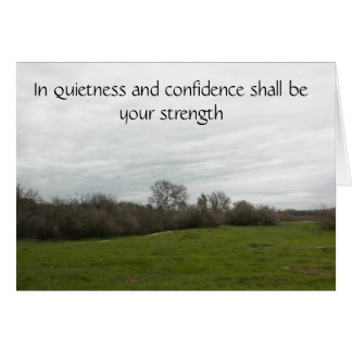 Tarjeta de la escritura para animar confianza