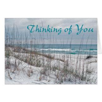 Tarjeta de la escritura -- Pensamiento en usted -