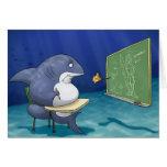 Tarjeta de la escuela del tiburón