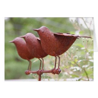 Tarjeta de la escultura del pájaro