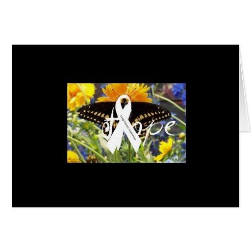Tarjeta de la esperanza del cáncer de pulmón