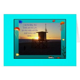 Tarjeta de la estación del salvavidas de la playa
