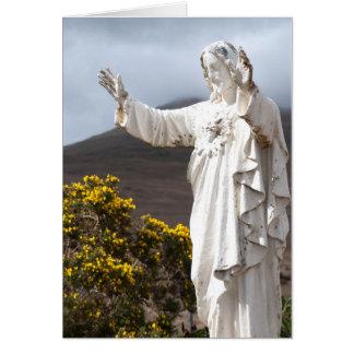 Tarjeta de la estatua de Jesús en Irlanda
