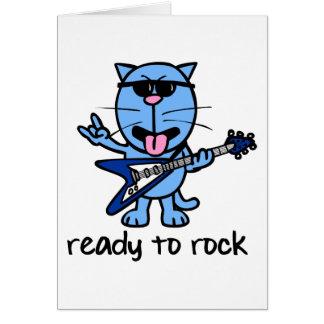 Tarjeta de la estrella del rock de Catt