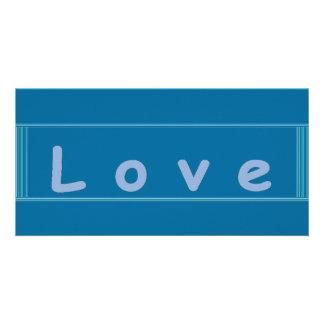Tarjeta de la etiqueta del amor tarjeta fotográfica
