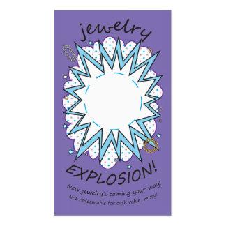 Tarjeta de la explosión: Joyería, púrpura helada Tarjetas De Visita