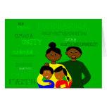 Tarjeta de la familia de Kwanzaa