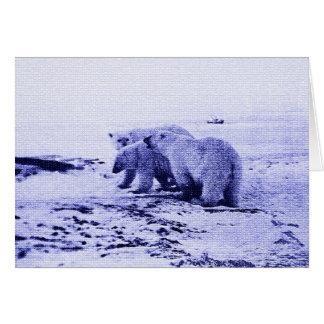 Tarjeta de la familia de tres osos