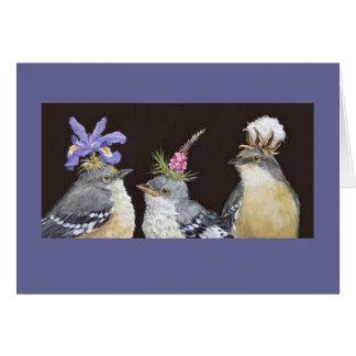 Tarjeta de la familia del Mockingbird