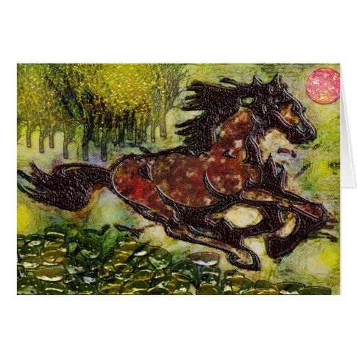 Tarjeta de la fantasía Horse1