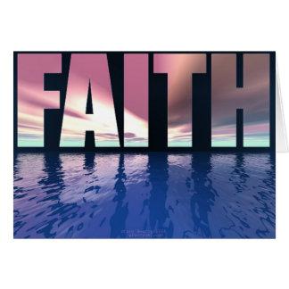 Tarjeta de la fe