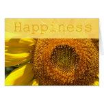 Tarjeta de la felicidad del girasol