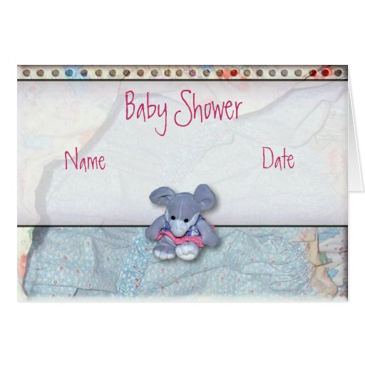 Tarjeta de la fiesta de bienvenida al bebé