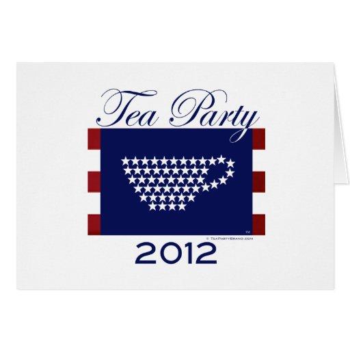 Tarjeta de la fiesta del té 2012
